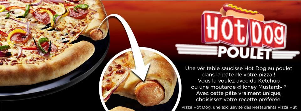 TEST : Pizza Hot Dog dans les restaurants Pizza Hut