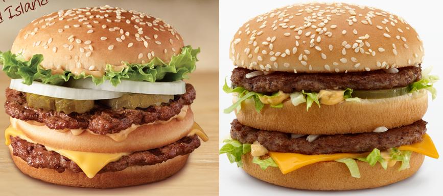 TEST : Big King de Burger King VS Big Mac de McDonald's