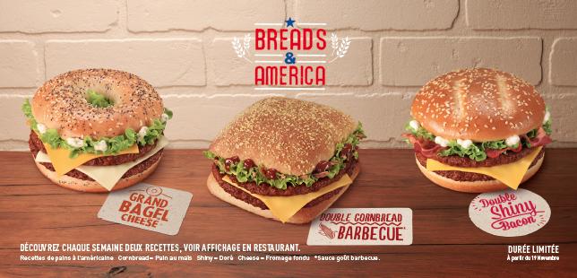 McDonald's Breads & America : 3 nouveaux burgers