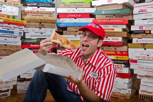 Record du monde le plus grand collectionneur de bo tes de pizzas au monde - Collectionneur de boite ...