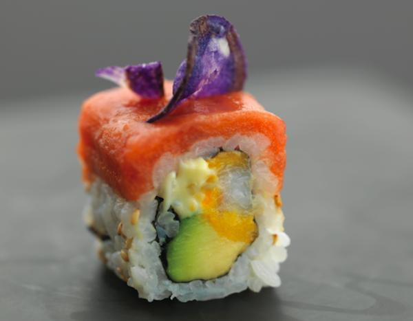 spicy ebi roll Joël Robuchon signe la nouvelle carte Sushi Shop 2014