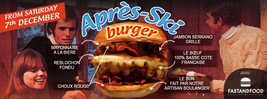 Nouveau : Après-Ski Burger par FASTANDFOOD x FrogBurger