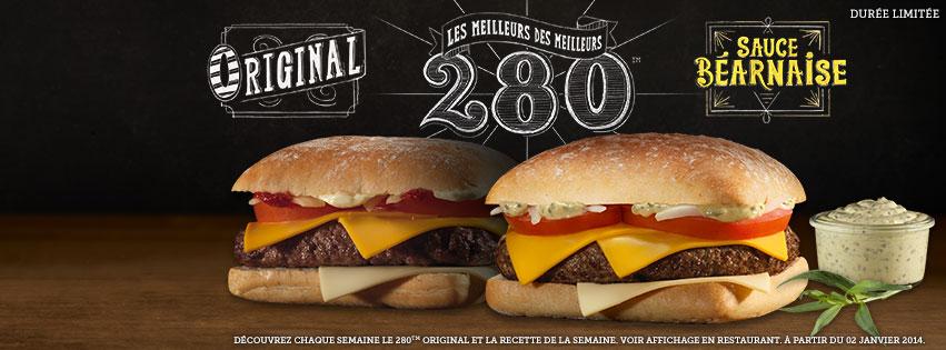 Le 280 Original et le 280 Béarnaise reviennent chez McDonald's