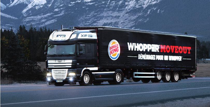 Whopper Move Out : Burger King vous offre votre déménagement à côté d'un Burger King