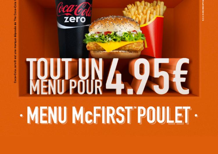 TEST : Le Menu McFirst à 4,95 euros de McDonald's