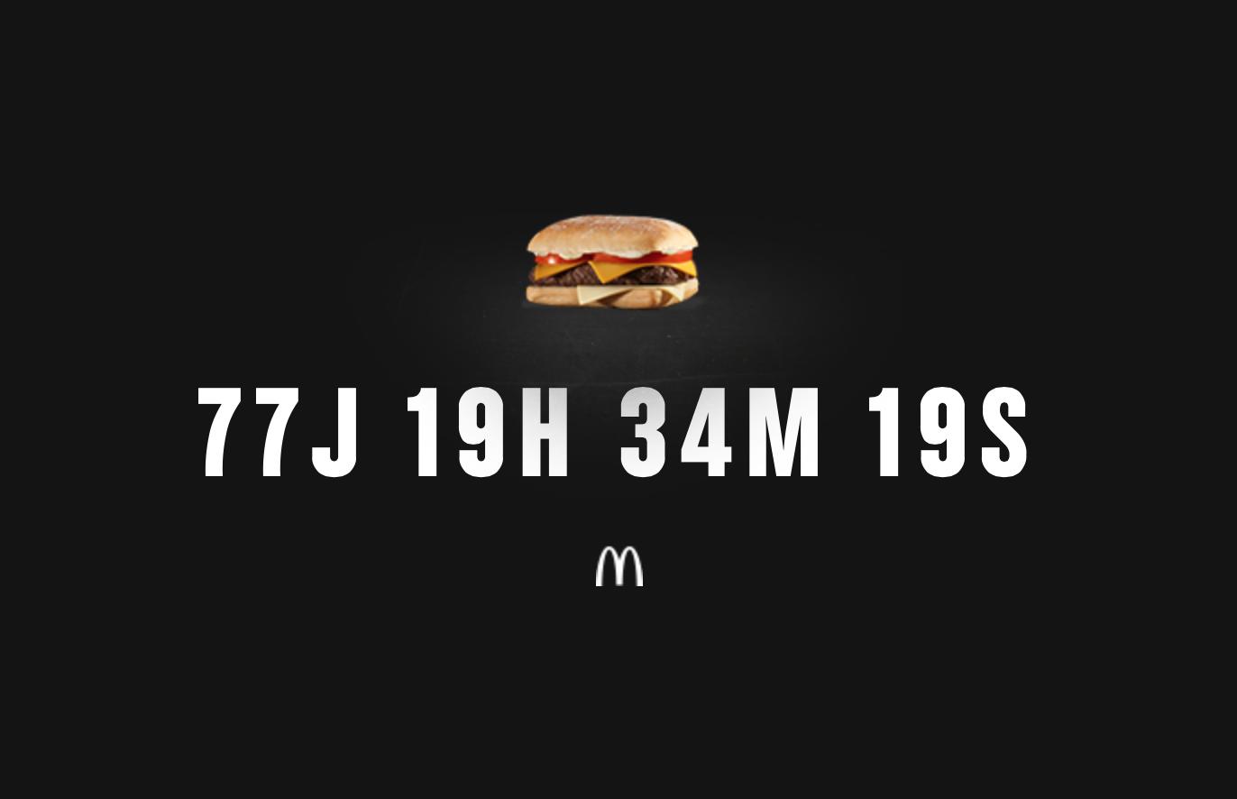 Le 280 de McDonald's revient dans 77 jours !