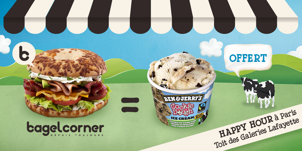Bagel Corner et Ben&Jerry's organisant l'Ice Cream Hour