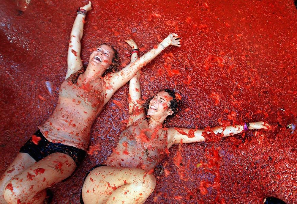 La Tomatina, 70ème bataille de tomates en Espagne