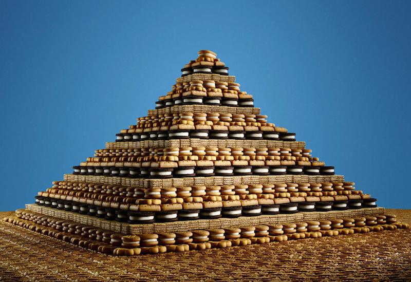 Comment réaliser la Pyramide de Gizeh avec des cookies ?