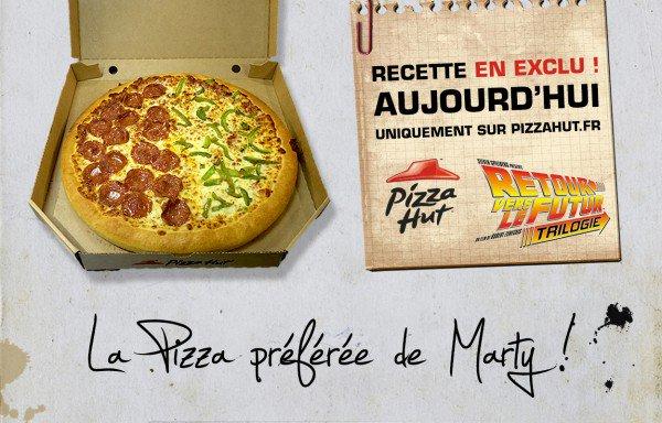 Pizza Hut commercialise la Pizza du film «Retour Vers le Futur»