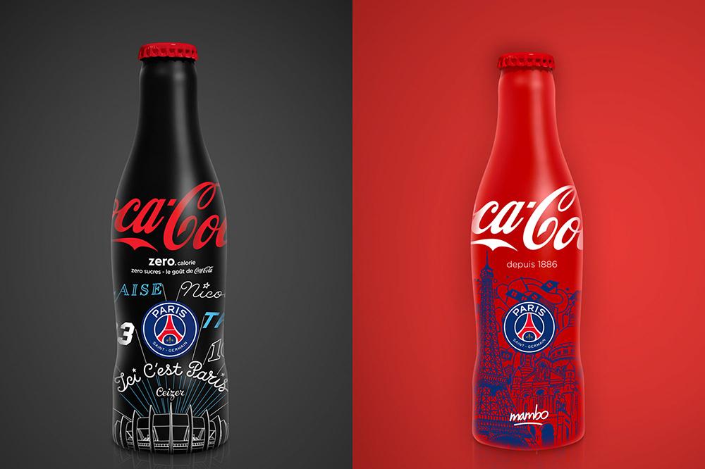 Coca-Cola x PSG : deux bouteilles collector en édition limitée