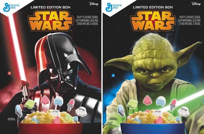 Les céréales Star Wars à l'effigie de Dark Vador