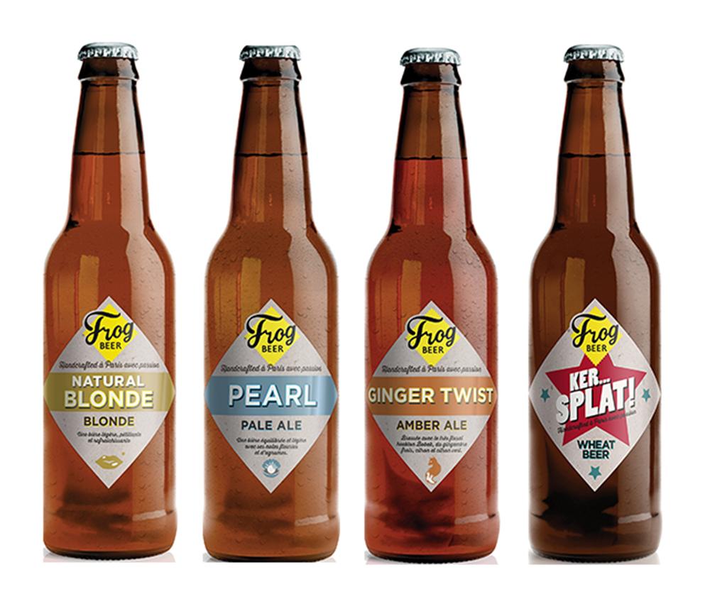 FrogPubs élaborent 4 bières artisanales désormais disponibles chez Monoprix