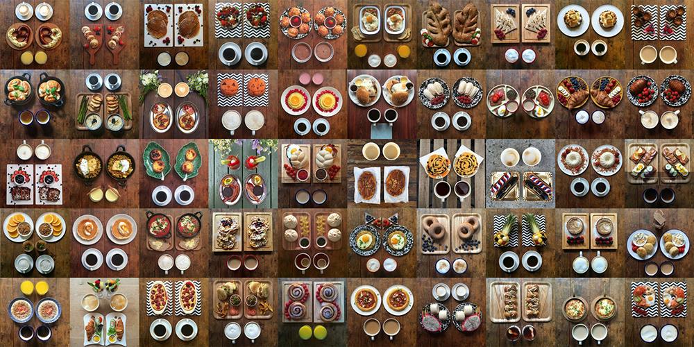 L'art de la symétrie au service du petit-déjeuner