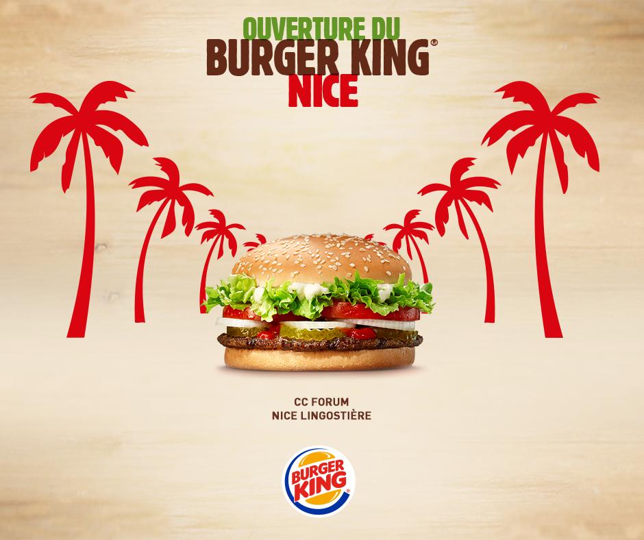 Burger King s'installe à Nice dès aujourd'hui !