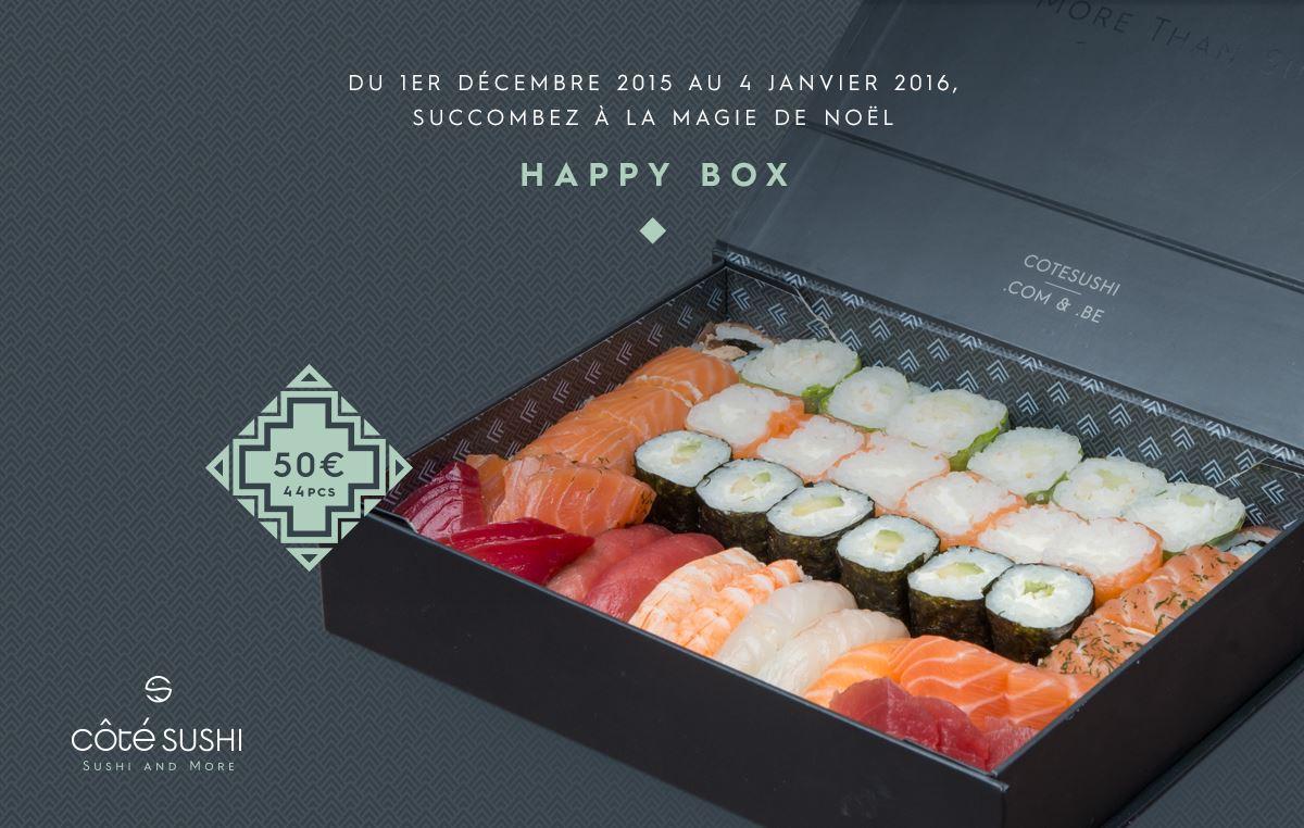 Côté Sushi lance l'Happy Box à l'occasion des fêtes de fin d'année