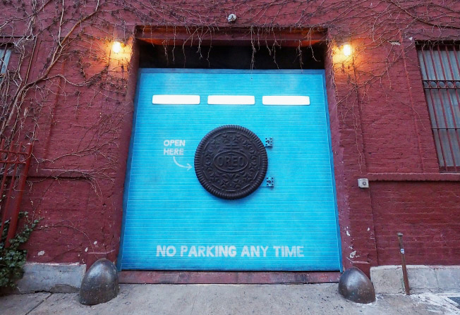 Oreo installe un garage mystérieux à New-York