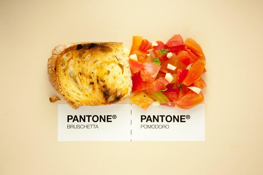 Les cartes Pantone illustrent la gastronomie italienne