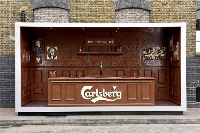 Carlsberg crée un bar éphémère en chocolat pour Pâques