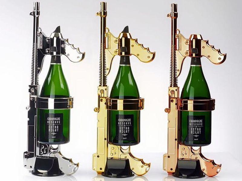 La mitraillette à champagne enflamme le dancefloor