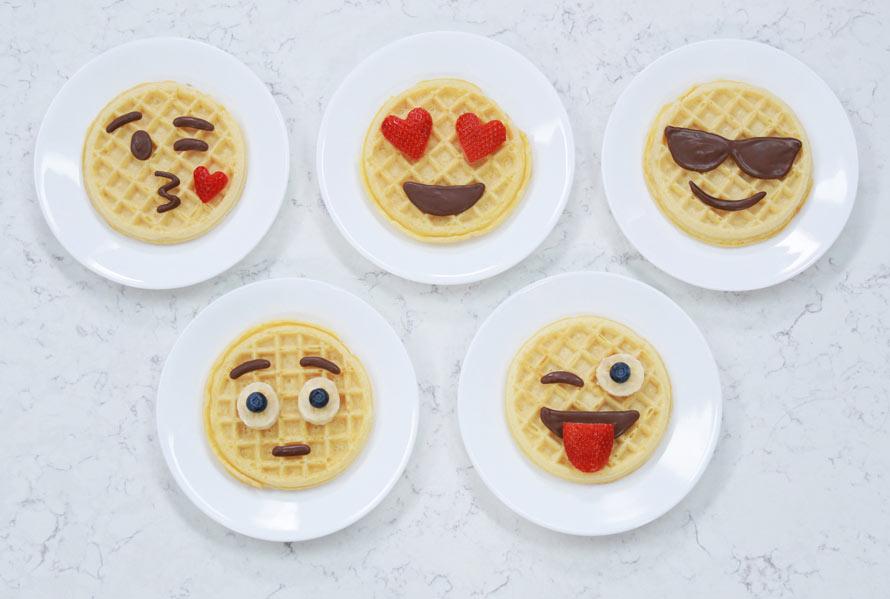 Comment faire des gaufres Emoji pour le petit-déjeuner ?
