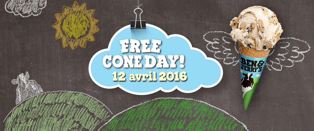 Free Cone Day 2016 : glaces gratuites chez Ben & Jerry's