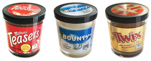 Les pâtes à tartiner Maltesers, Bounty & Twix arrivent!