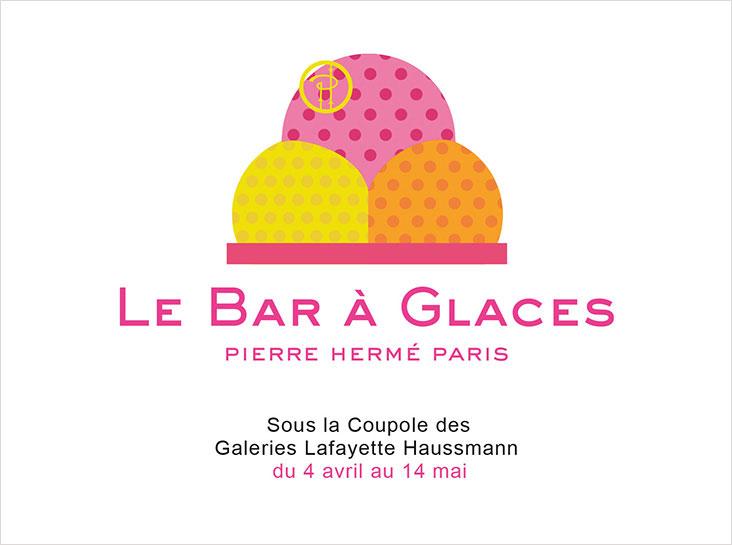 Pierre Hermé installe un bar à glaces éphémère aux Galeries Lafayette 467d5f7f715
