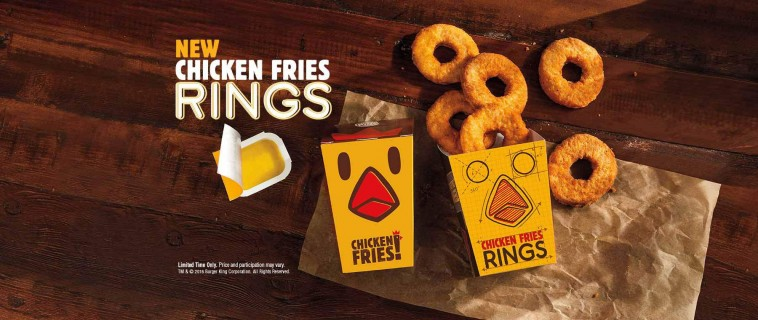 Burger King lance les Chicken Rings aux US !