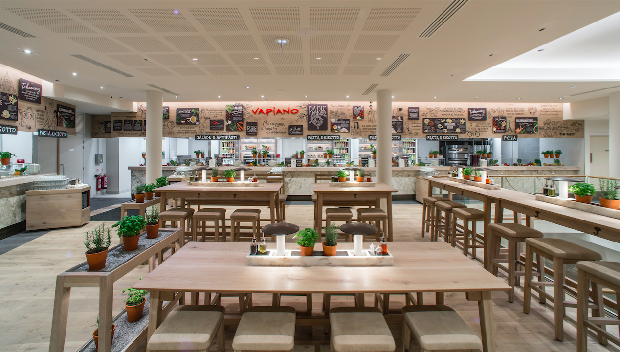 Vapiano ouvre un restaurant rue Marbeuf - FASTANDFOOD