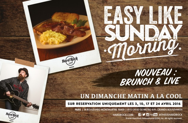 Brunch & Live au Hard Rock Cafe Paris