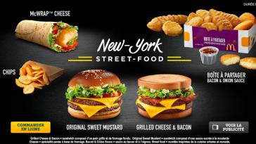 McDonald's Menu Street food New York