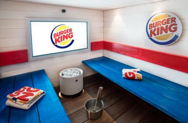 Burger King ouvre un sauna à Helsinki