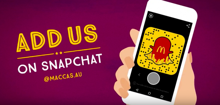 McDonald's lance ses propres filtres Snapchat en Australie
