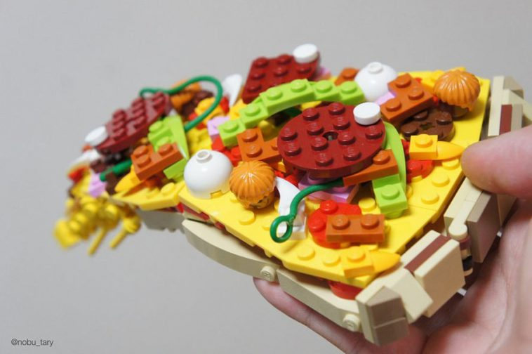 Croquez dans une part de pizza en LEGO !
