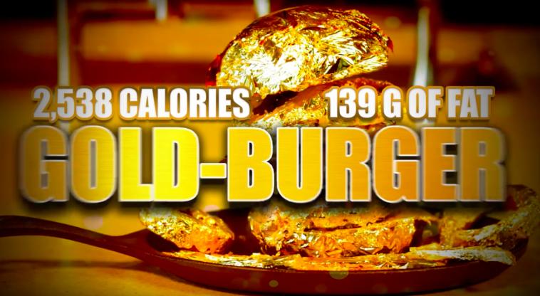 Epic Meal Time réalise un FAT burger 100% à la feuille d'or