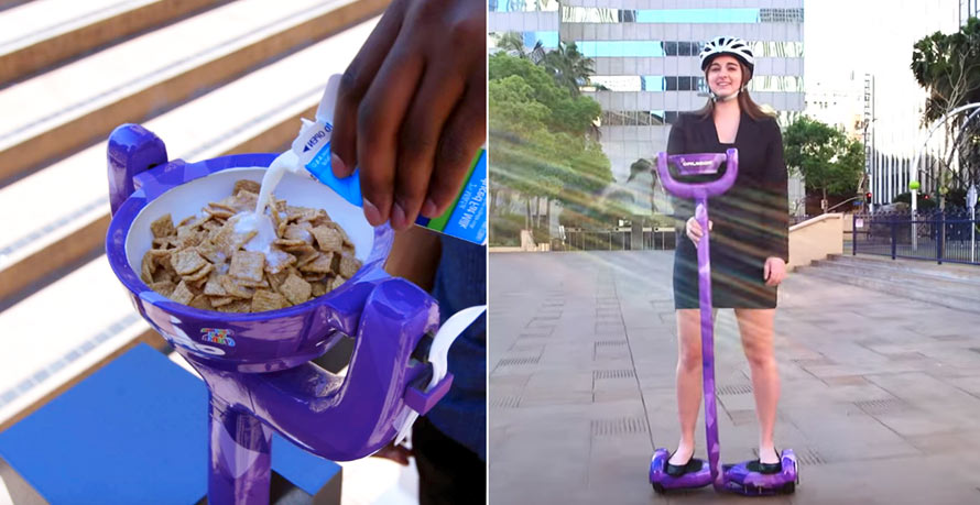 Profitez de votre Hoverboard pour manger votre bol de céréales