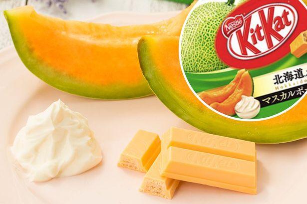 Kit Kat lance son nouveau parfum Melon & Mascarpone au Japon
