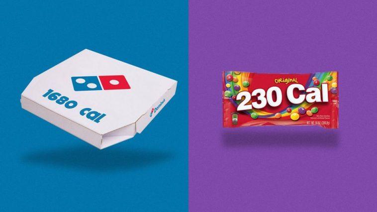Si les logos des marques étaient remplacés par leurs nombres de calories
