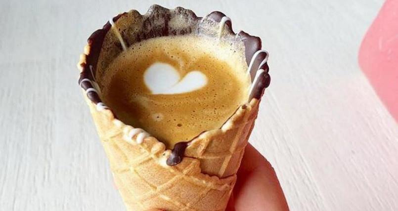 Dégustez dès maintenant votre café dans un cornet de glace !