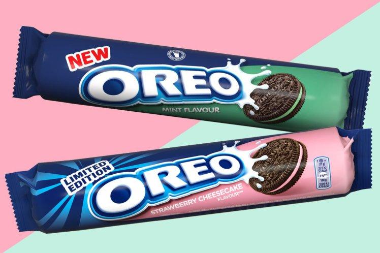 Oreo lance deux nouvelles saveurs : menthe et cheesecake fraise