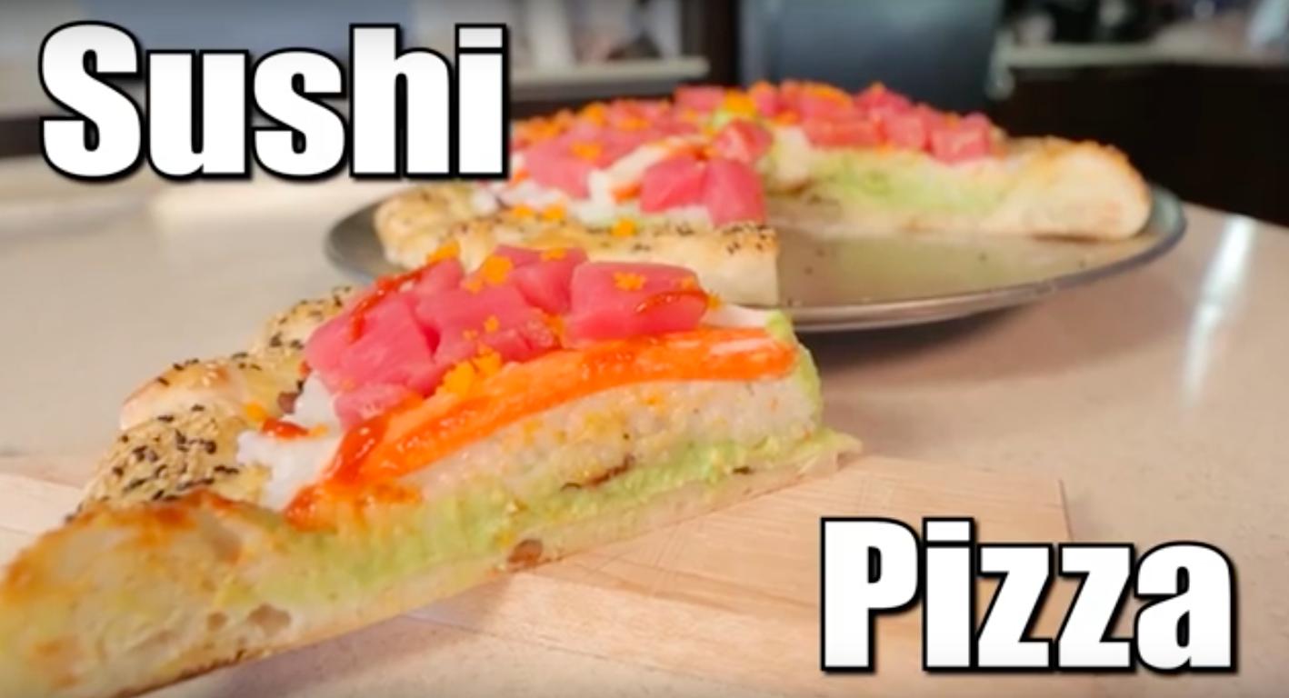 Vous laisserez-vous tenter par la pizza sushi?