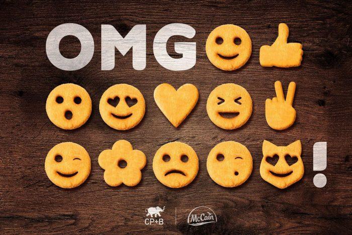 McCain crée des frites en forme d'emojis