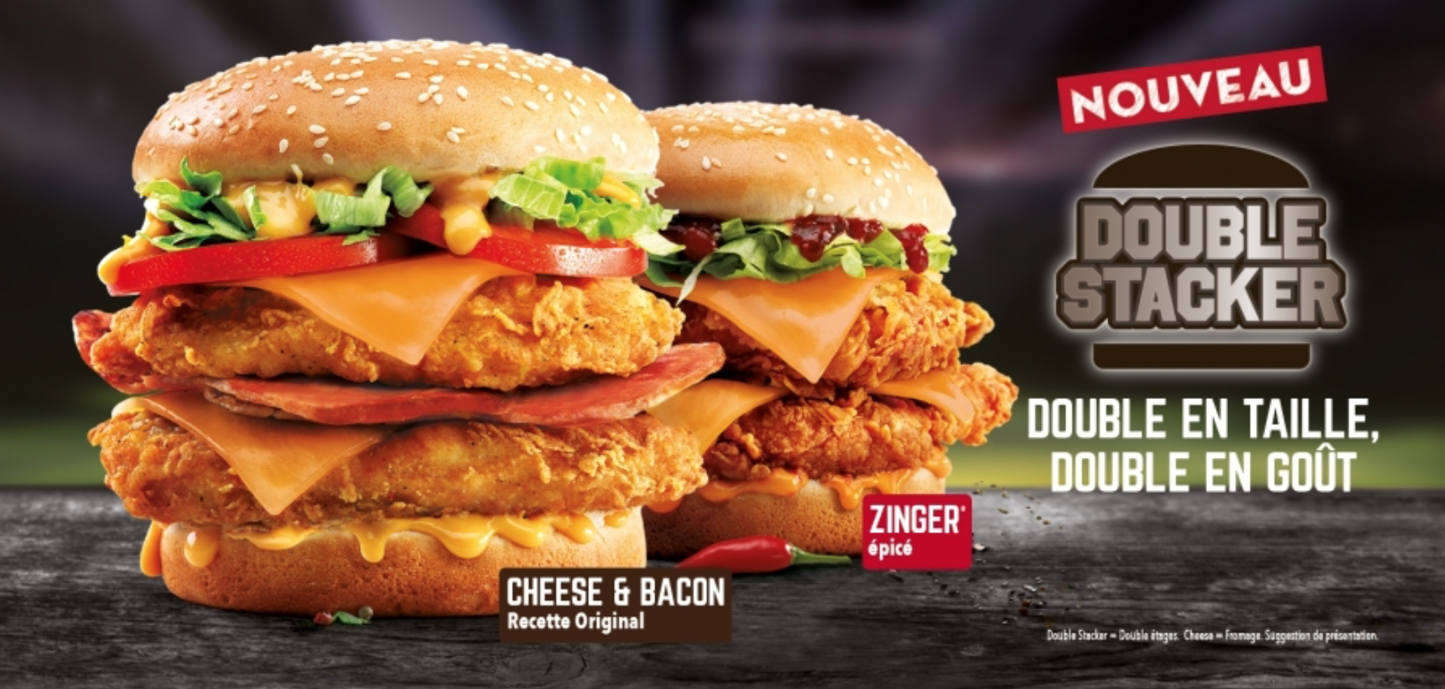 KFC lance le Double Stacker en France