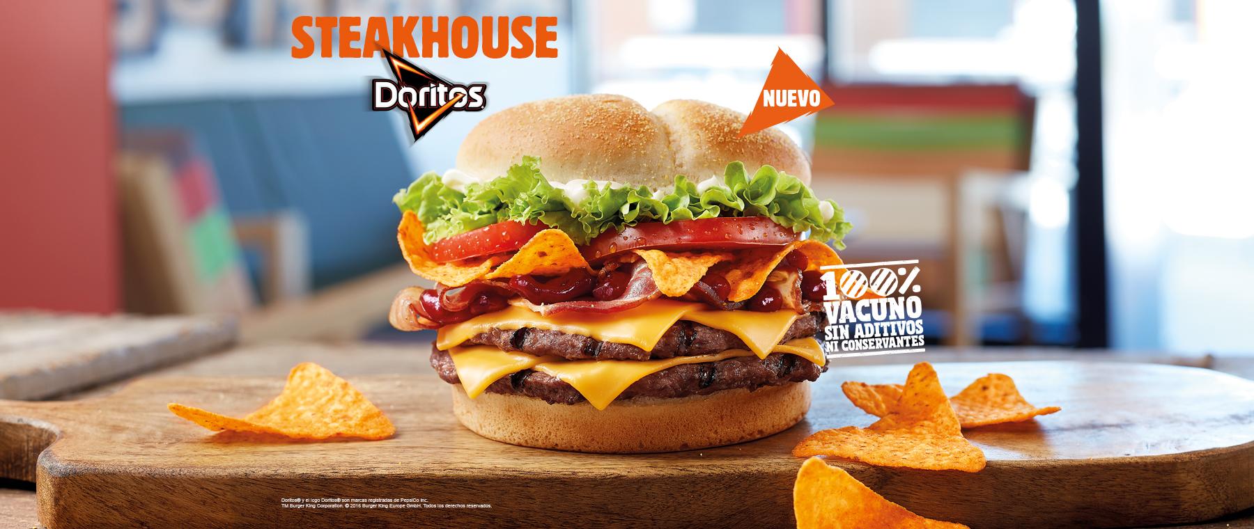 Burger King lance le Steakhouse Doritos, le burger ultime