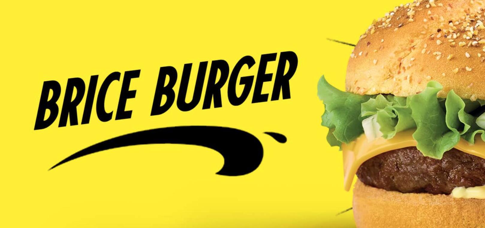 Quick lance un menu Brice de Nice avec un burger jaune