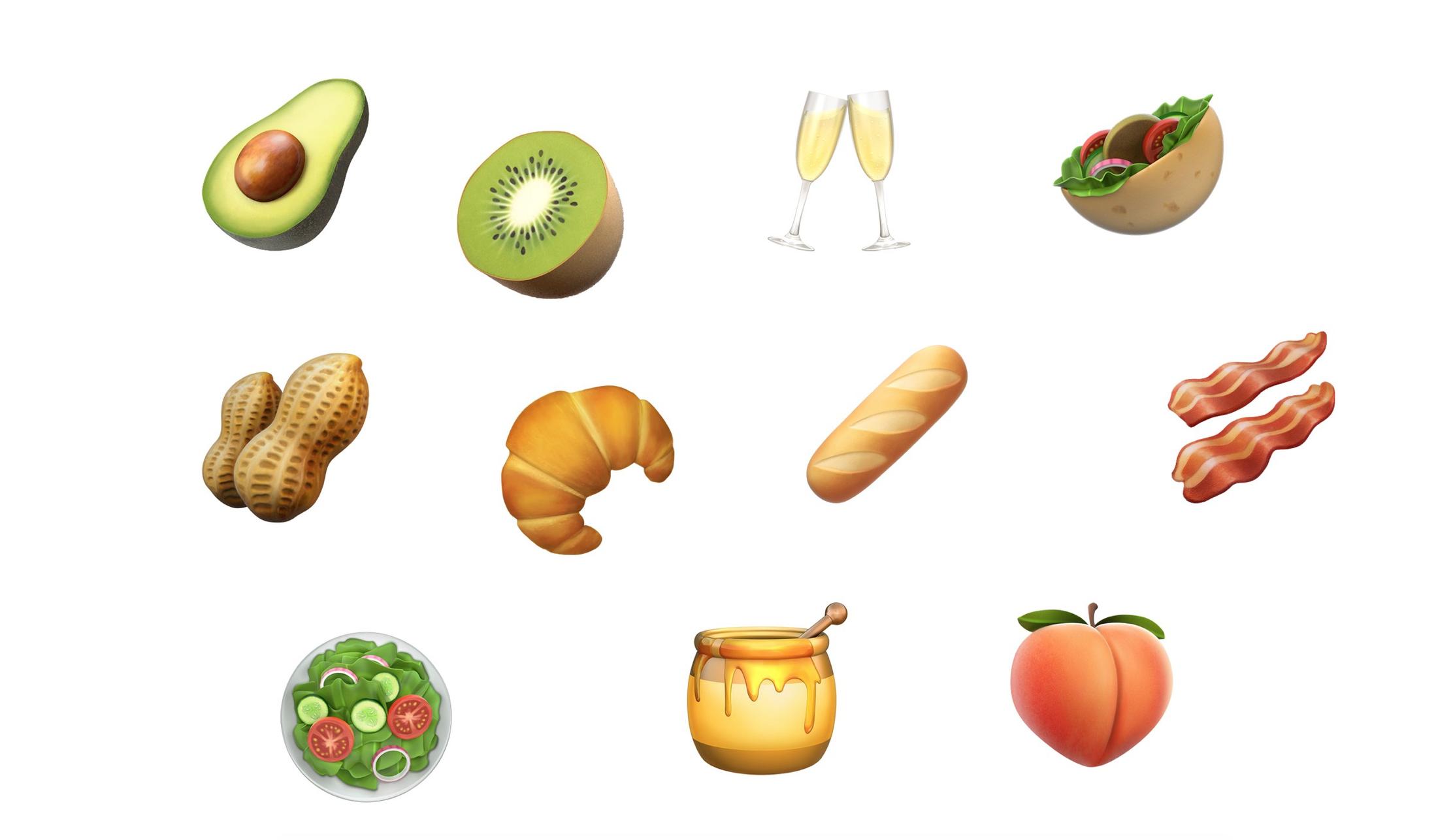 Apple ajoute de nouveaux emojis : Avocat, Bacon, Baguette, Croissant…