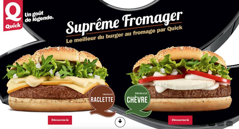 Quick lance un nouveau hamburger à la raclette