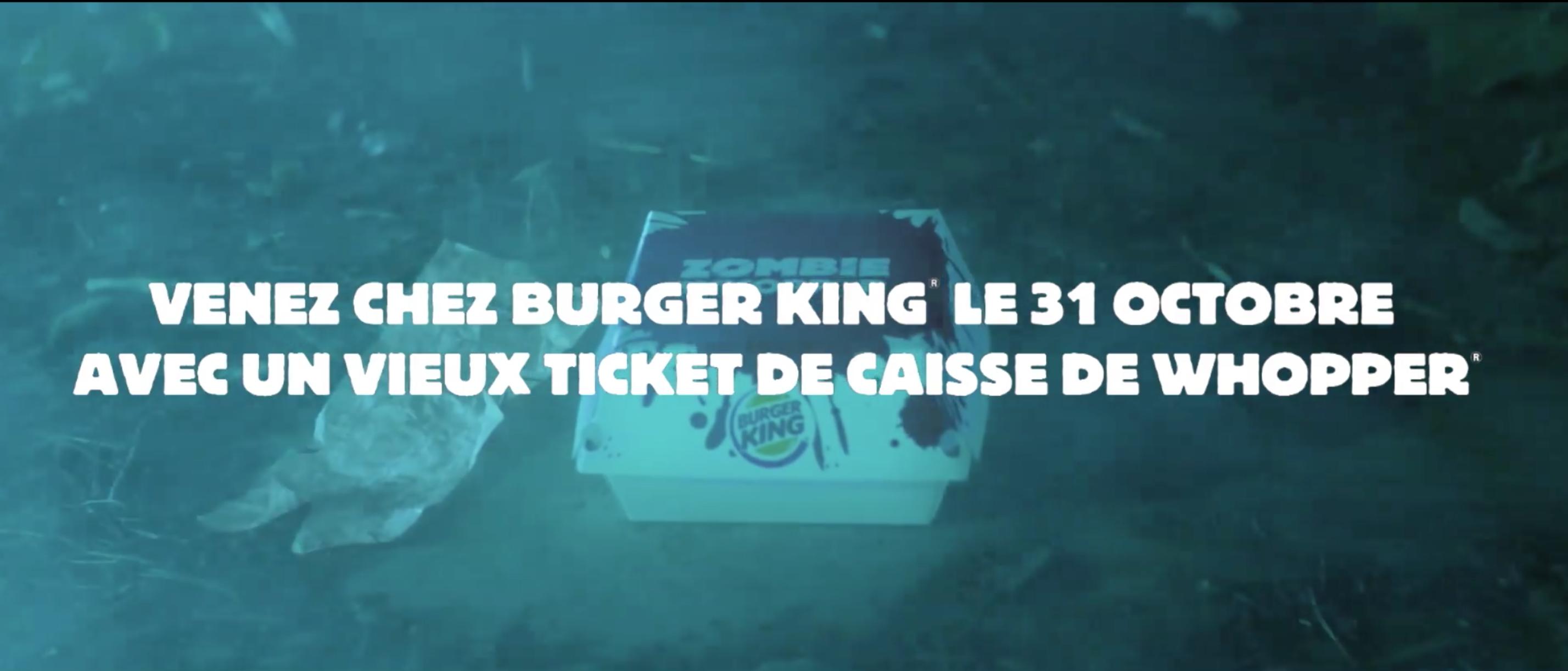 Burger King offre des whoppers gratuits pour Halloween