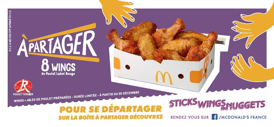 McDonald's lance les Wings label rouge